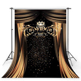 Golden Glitter VIP Flowing Curtain Pattern Hollywood Backdrops for Party Photography