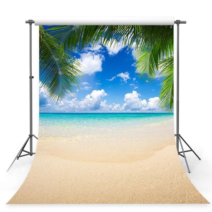 Seaside Beautiful Scenery Backdrops for Relax Vocation Photography Backgrounds