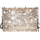 Snow Wood Wall Backdrops for Winter Christmas Photography
