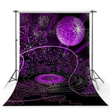 Purple Glitter Ball Backdrops Dreamlike Universe Photography Background