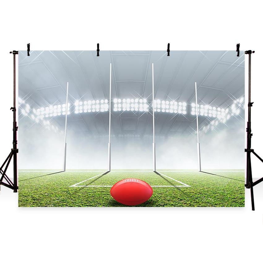Green Grass Floor Bright Lights Photography Custom Backdrop Background