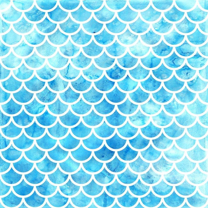 Fairytale Blue Mermaid Scales Backdrop Fish Skin Texture Photography Background