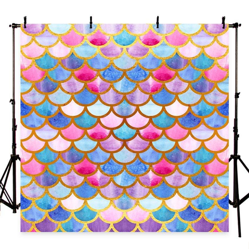 Mermaid Scales Glare Photography Backdrop Decor Girl Show Photography Background