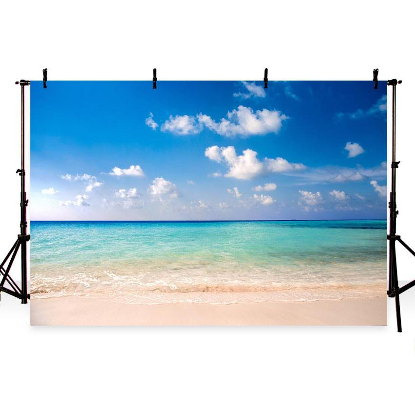 Seaside Beautiful Scenery Backdrop Sea Summer Photography Background