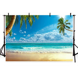 Sea Summer Scenery Backdrop for Seaside Party Photography