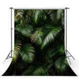 Green Tropical  Leaves Wall Backdrop for Studio Photography Background