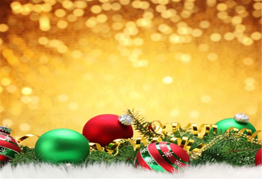 Shiny Gold Christmas Backdrop for Photography