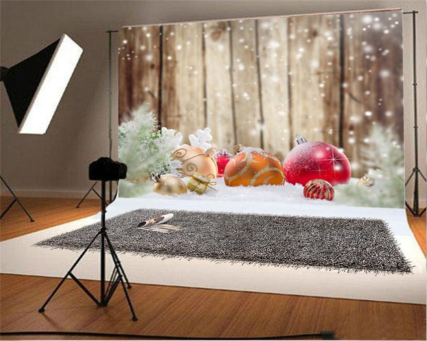Snowflake Brown Wooden Christmas Backdrops