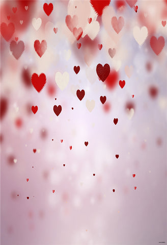 Valentine's Day Pink Heart Photography Backdrops