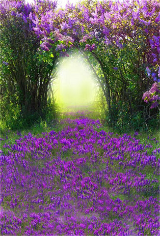 Purple Floral Wedding Nature Photo Backdrops
