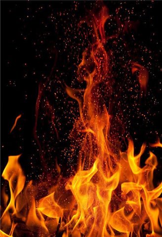 Halloween Magic Fire Black Photo Backdrops