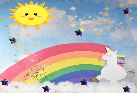 Magical Unicorn Baby Photo Backdrops for AGR Photography