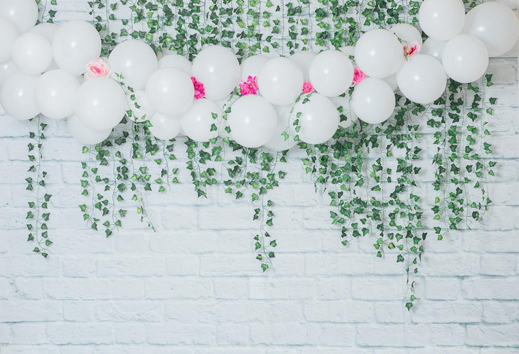 White Brick Wall Balloon  Baby Show for Beyond Creations