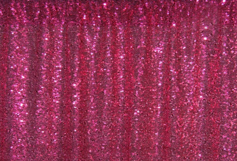 Dark Pink Sequins Fabric Photography Backdrop for Party