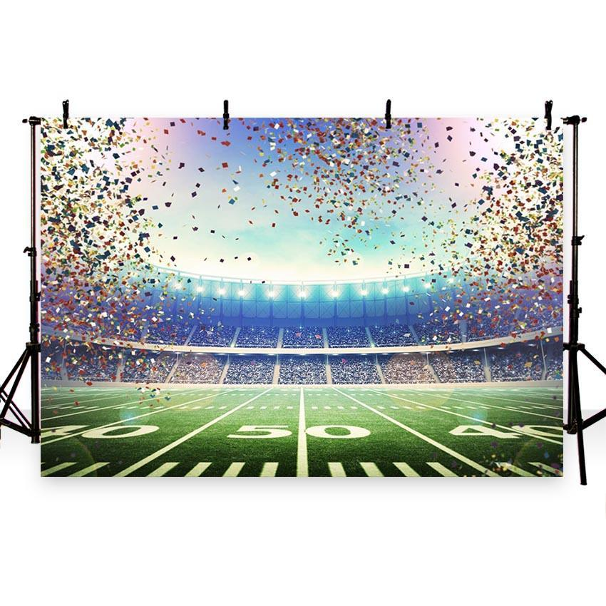 Green Grassland Championship Backdrop Football Field Photography Background