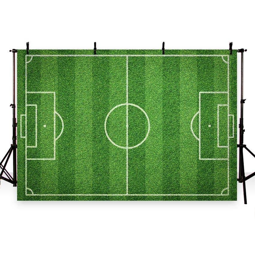 Green Grass Backdrop Basketball Field Pattern Photography Background