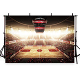 Bright Lights Backdrop Basketball Field Photography Background