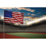 Stadium Hanging American Flag  Backdrop Football Field Photography Background