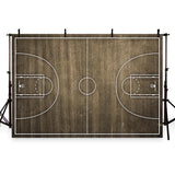 Wood Floor Backdrop Basketball Field Pattern Photography Background