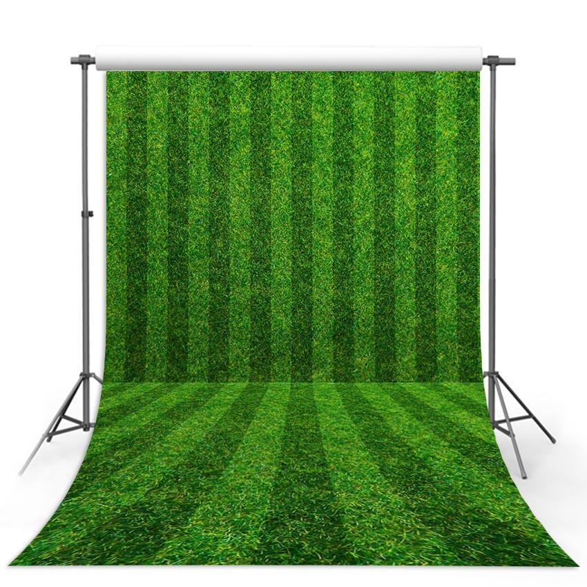 Green Grass Strips Floor  Backdrop Sports Photography Background