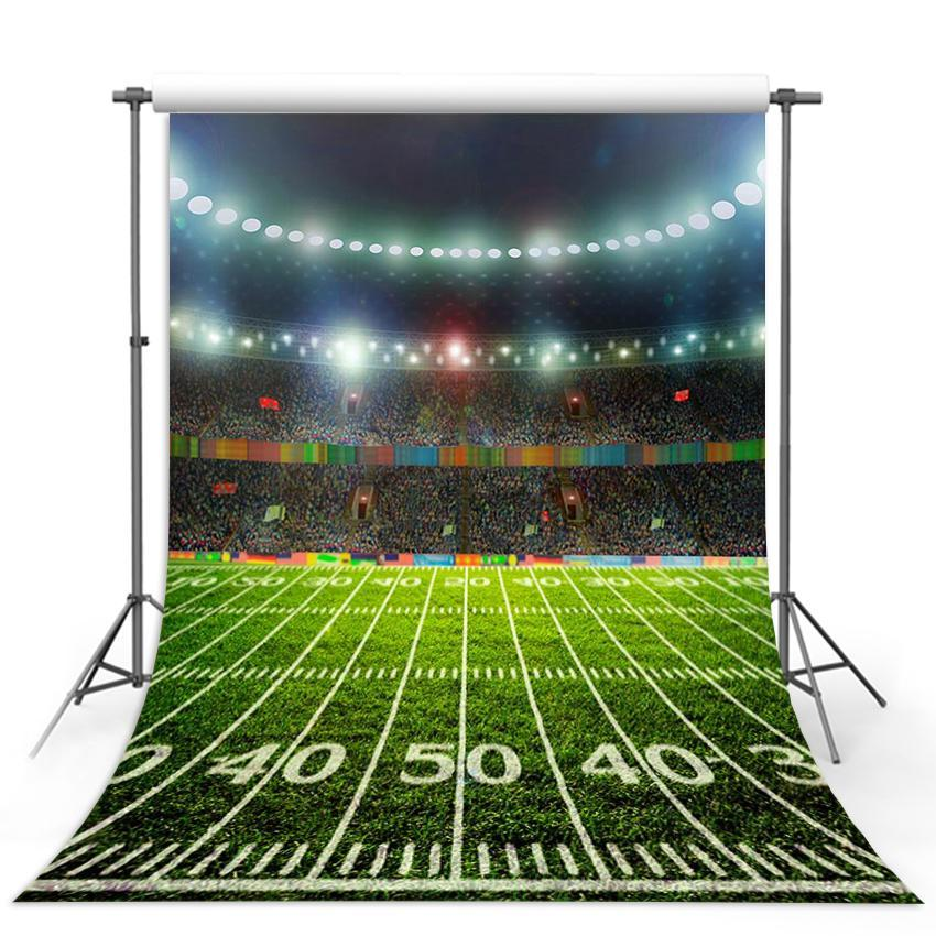 Green Grass Backdrop Sports Field Night Background For Photography