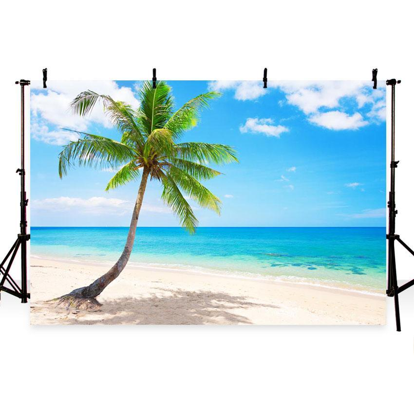 Seaside Beautiful Scenery Backdrop for Vocation Photography Background