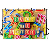 Colorful Decoration Backdrop Back to School Theme Background for Photography