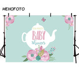 Pink Flower Green Backdrop Baby Show Decoration Photograph Background