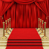 Red Carpet Gorgeous Palace Photography Backdrops Red Carpet Lighting Stage Background