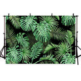 Green Tropical Leaves Backdrop Summer Photography Background