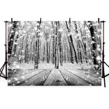 Black and White Photography Backdrop Snow wood Background