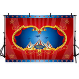 Red Circus Backdrop Carnival Festive First Birthday Party Photography Background
