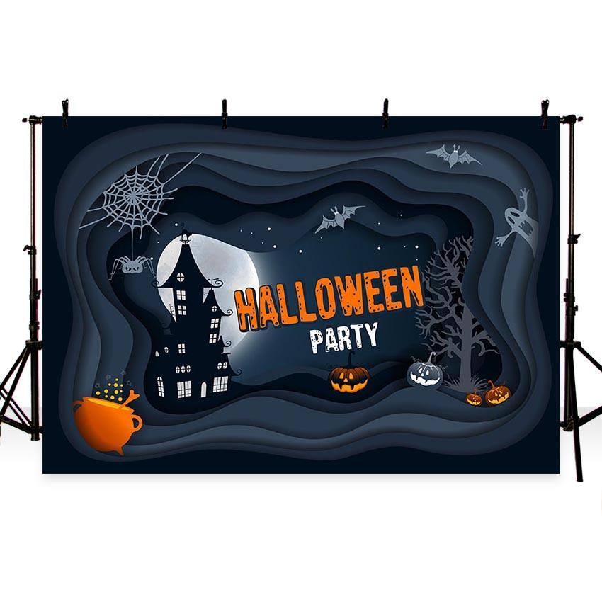 Dark Castle Backdrop Happy Halloween Party Photography Background