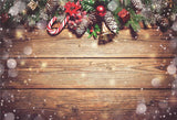 Rustic Brown Wood Christmas Snowflake Backdrop
