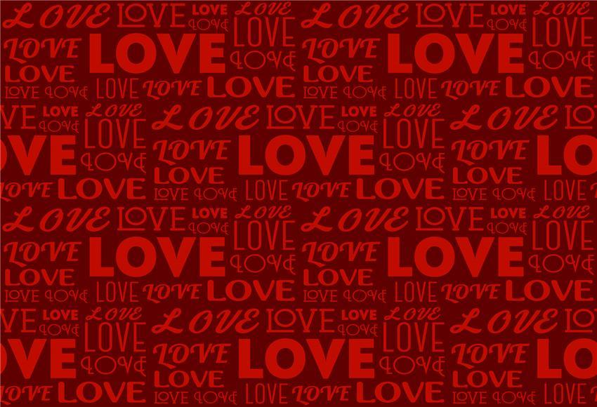 Red Love Valentine's Day Poster Backdrop for Studio