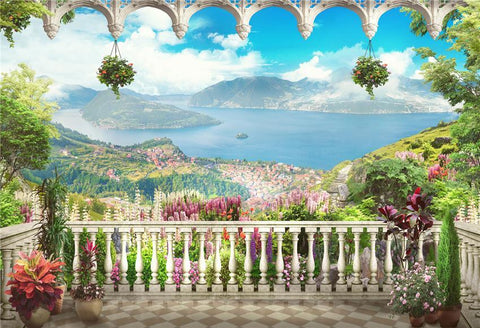 Mediterranean Nature Observation Deck Photo Backdrops