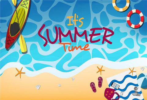 Summer Boats Cartoon Backdrops