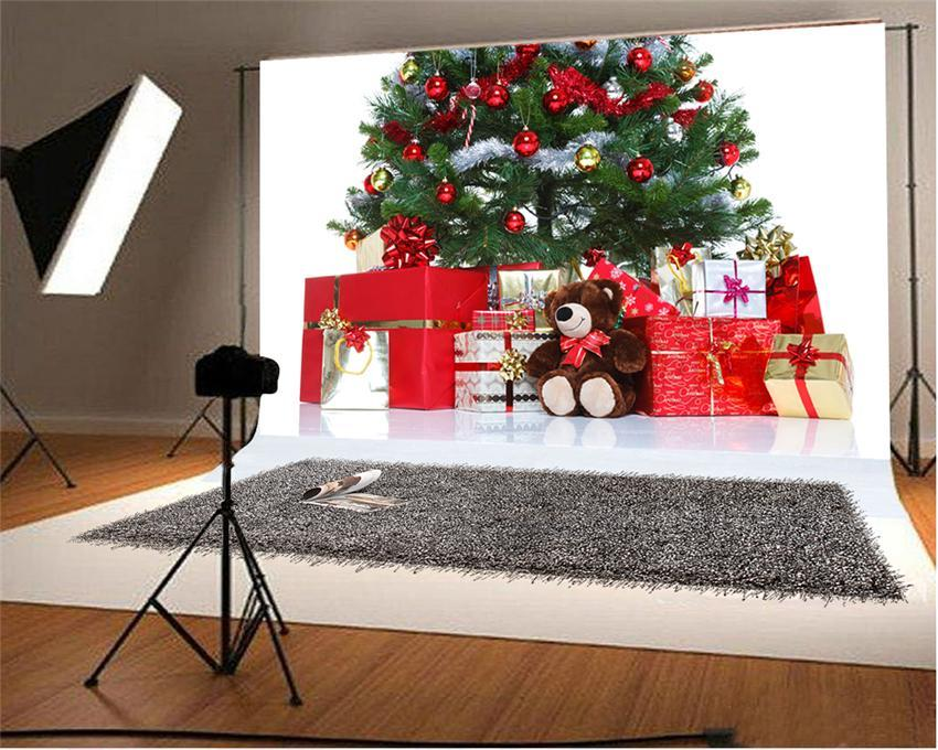 Christmas Red Gift Photography Backdrop