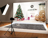Christmas Photography Prop Backdrop Wood Floor Background