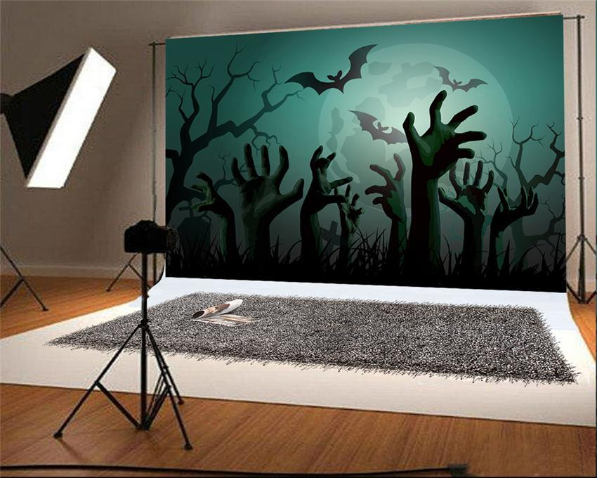 Cemetery Halloween Photo Studio Backdrops