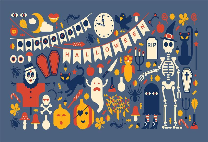 Happy Halloween Backdrop for Photography Cartoon Photo Background