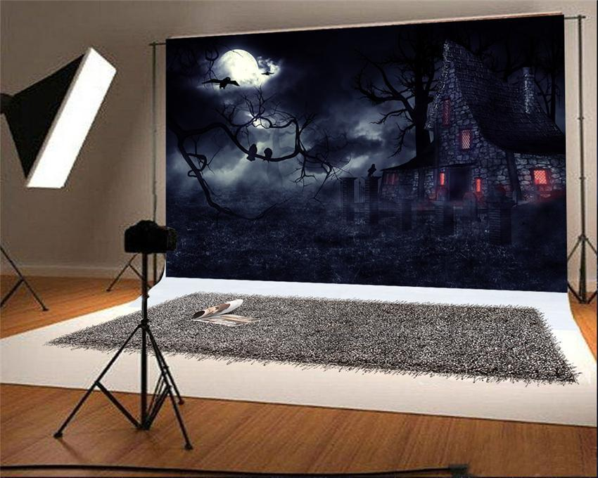 Brick Castle Halloween Backdrop Bats Photography