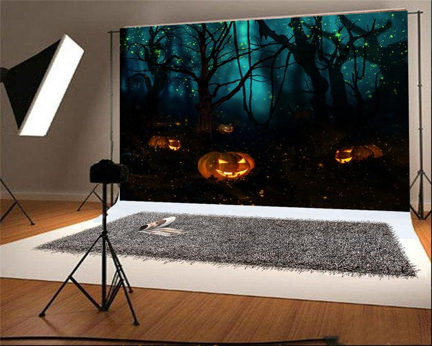 Halloween Photography Backdrop Firefly Forest Background