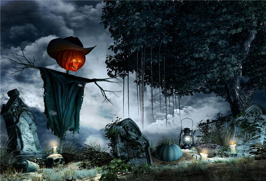 Scary Halloween Backdrop for Photography Dark Clouds