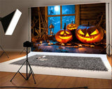 Wooden Halloween Backdrop for Party