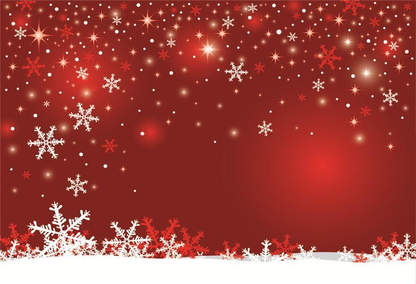 Snowflake Red Christmas Backdrop for Photography Prop