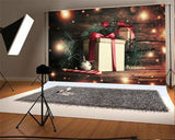 Glitter Wooden Christmas Gift Backdrops