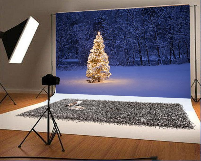 Winter Snow Photo Booth Prop Backdrop