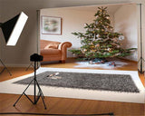 Sliver Bell Snowflake Christmas Tree Backdrops