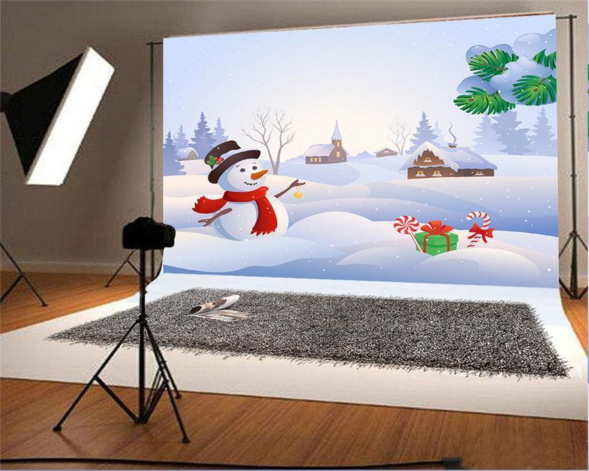 White Snowman Christmas Background for Picture